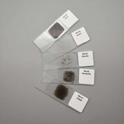quartz thin section mineral prepared slides